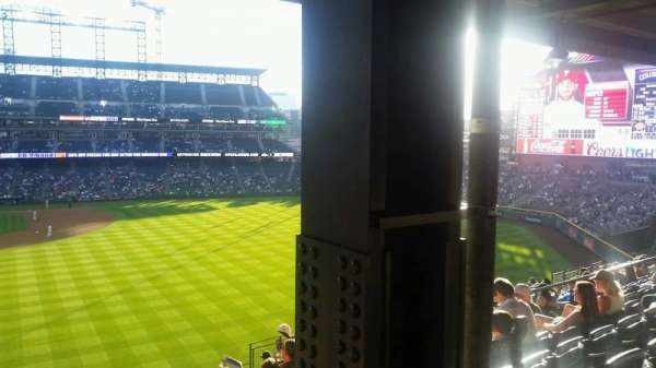 Coors Field, section: 206, row: 14, seat: 16