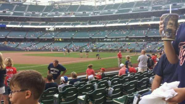 Miller Park, section: 126, row: 7, seat: 3