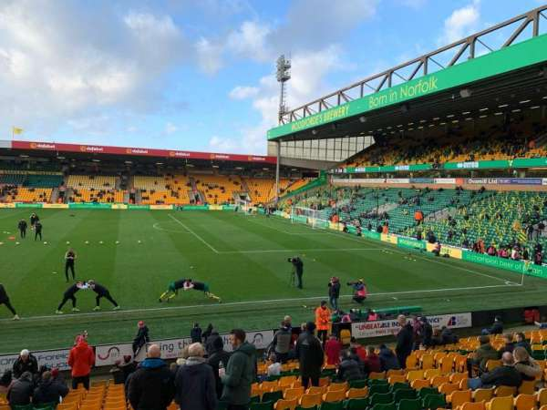 Carrow Road, section: H, row: R, seat: 60