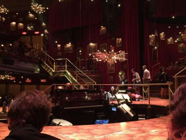 Imperial Theatre, section: Stage Left Sunken Table, row: TK, seat: 1