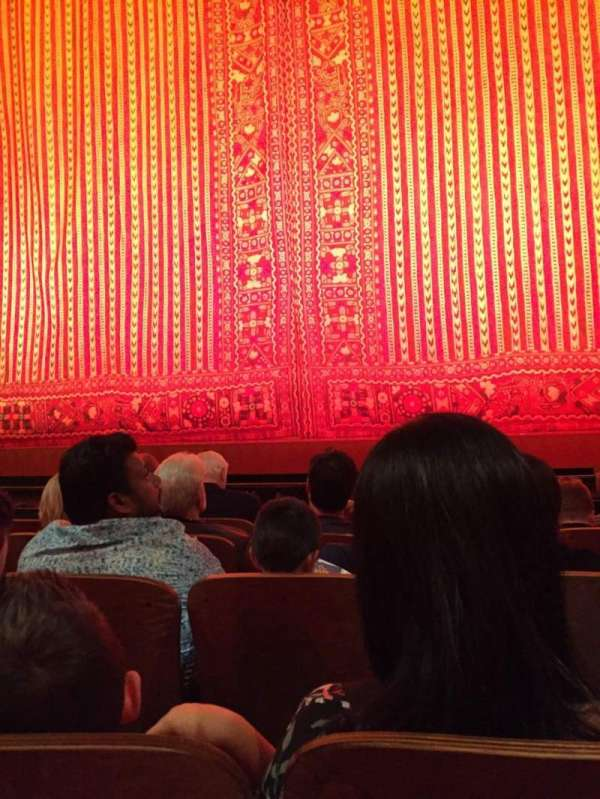 New Amsterdam Theatre, section: ORCH CTR, row: E, seat: 103
