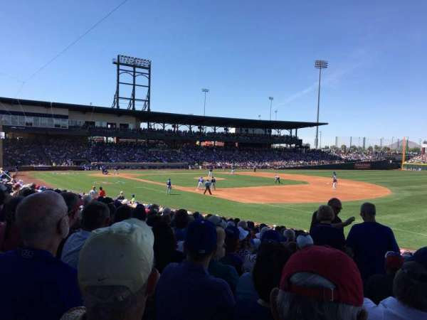 Sloan Park, section: 119, row: 23, seat: 20