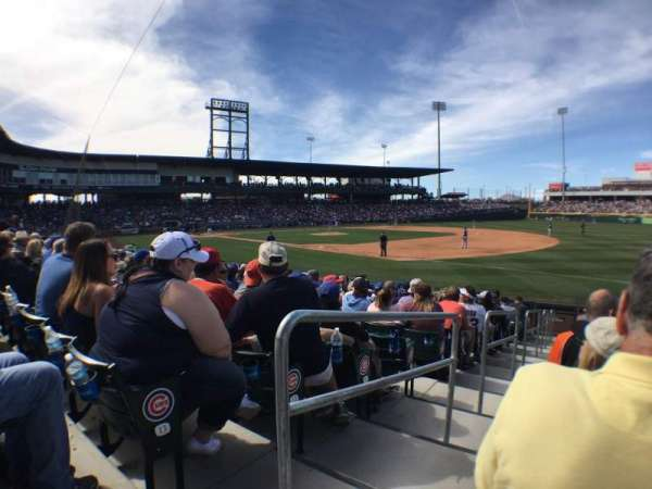 Sloan Park, section: 119, row: 14, seat: 1