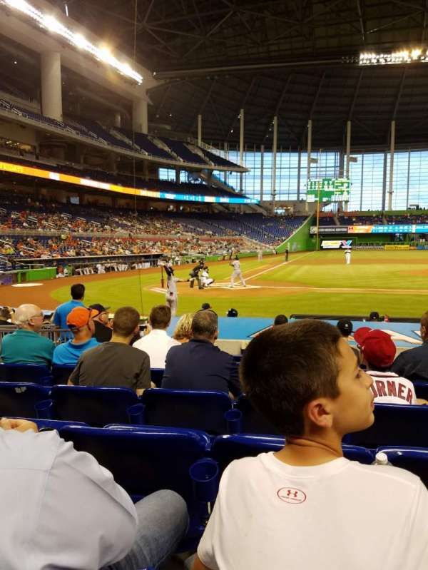 Marlins Park, section: FL5, row: 8, seat: 1
