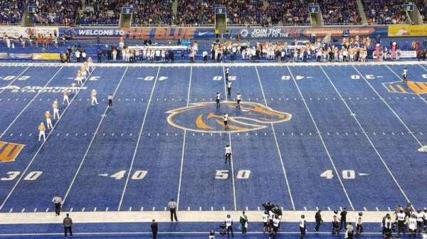 Albertsons Stadium, section: 108, row: X, seat: 22