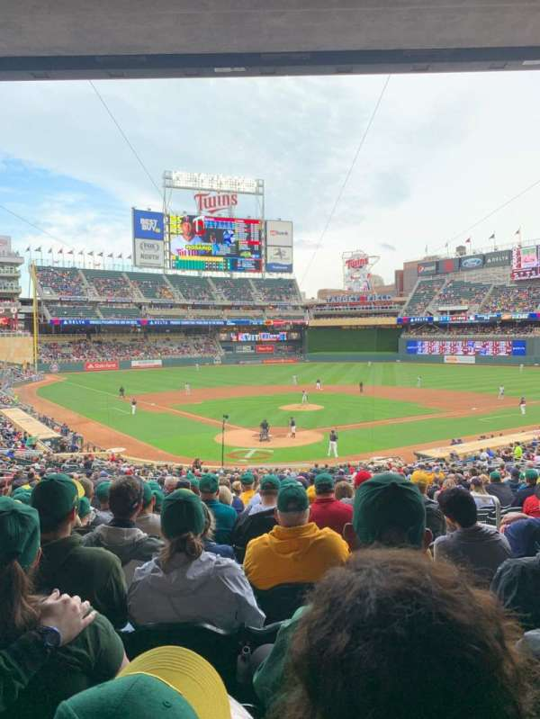 Target Field, section: 113, row: 22, seat: 5