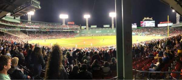 Fenway Park, section: Grandstand 14, row: 4, seat: 5