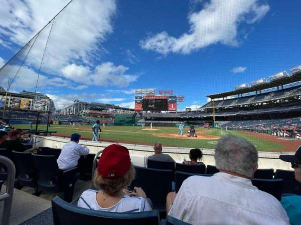Nationals Park, section: Presidents Club B, row: D, seat: 8
