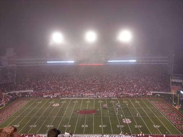 Razorback Stadium, section: 514, row: 5, seat: 33