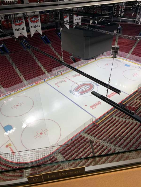 Centre Bell, section: Press Box, seat: 17