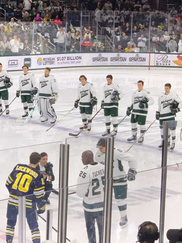 Munn Ice Arena, section: V, row: 9, seat: 8