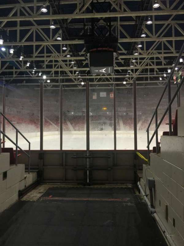 Herb Brooks Arena, section: Zamboni Entrance, row: Ice Level
