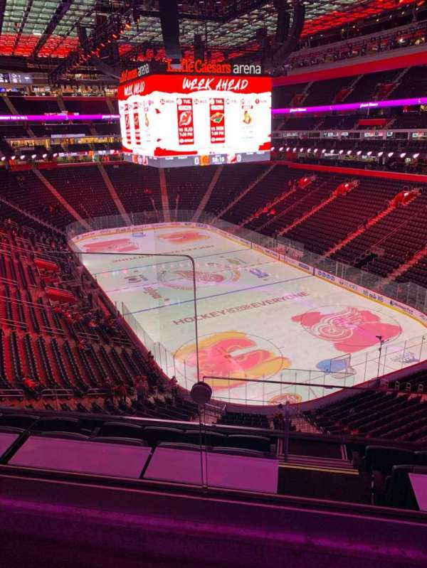 Little Caesars Arena, section: M21, row: 2, seat: 19