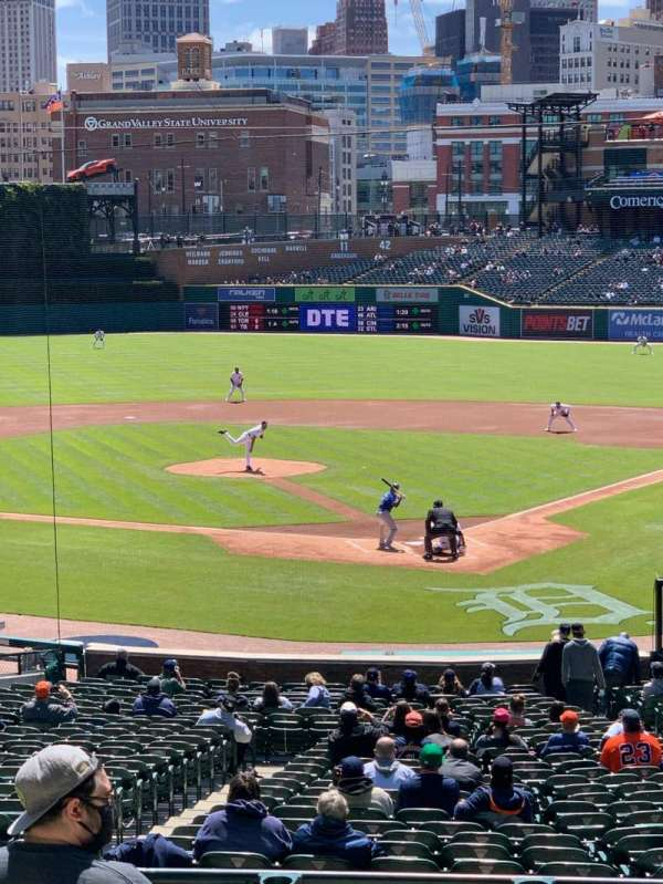 Comerica Park, section: 129A, row: B, seat: 6