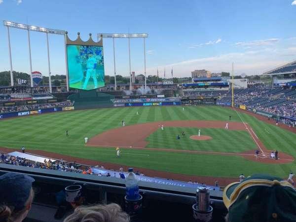 Kauffman Stadium, section: 309, row: B, seat: 10