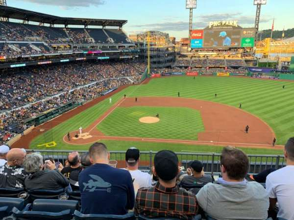 PNC Park, section: 210, row: E, seat: 7