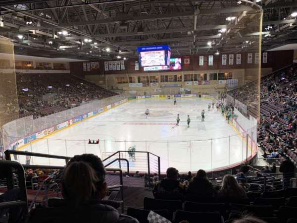 Erie Insurance Arena, section: 212, row: V, seat: 18