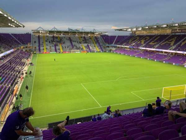 Exploria Stadium, section: 106, row: P, seat: 22