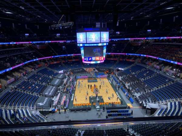 Amway Center, section: 201, row: 1, seat: 13