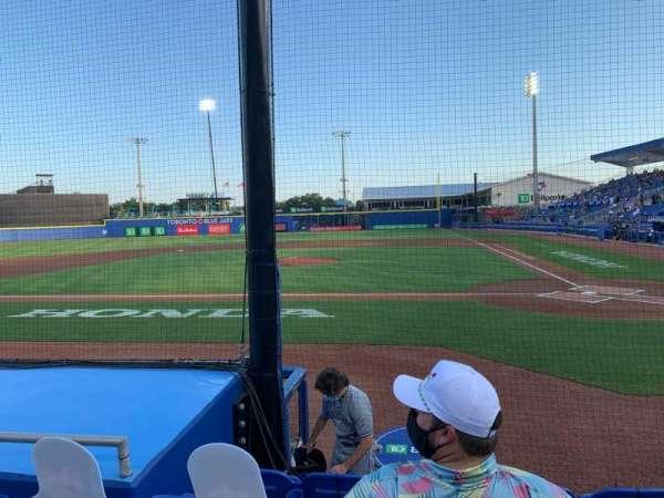 TD Ballpark, section: 109, row: 5, seat: 9
