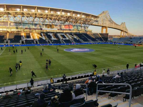 Talen Energy Stadium, section: 110, row: T, seat: 5