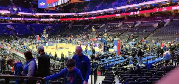 Wells Fargo Center, section: 117, row: 14, seat: 2