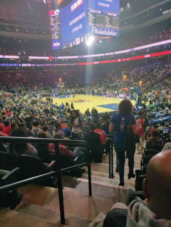 Wells Fargo Center, section: 117, row: 14, seat: 1