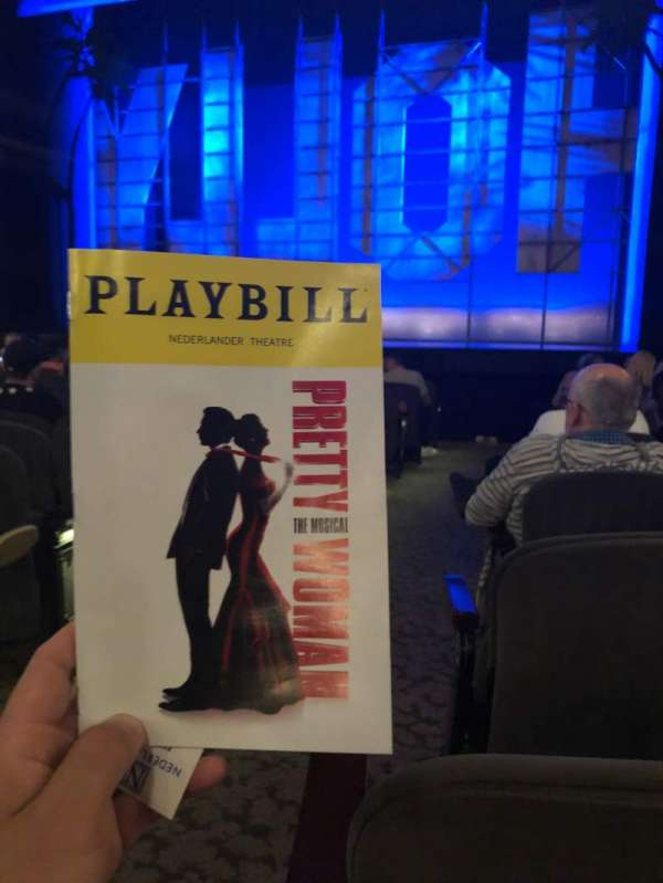 Nederlander Theatre, section: Orch, row: M, seat: 2