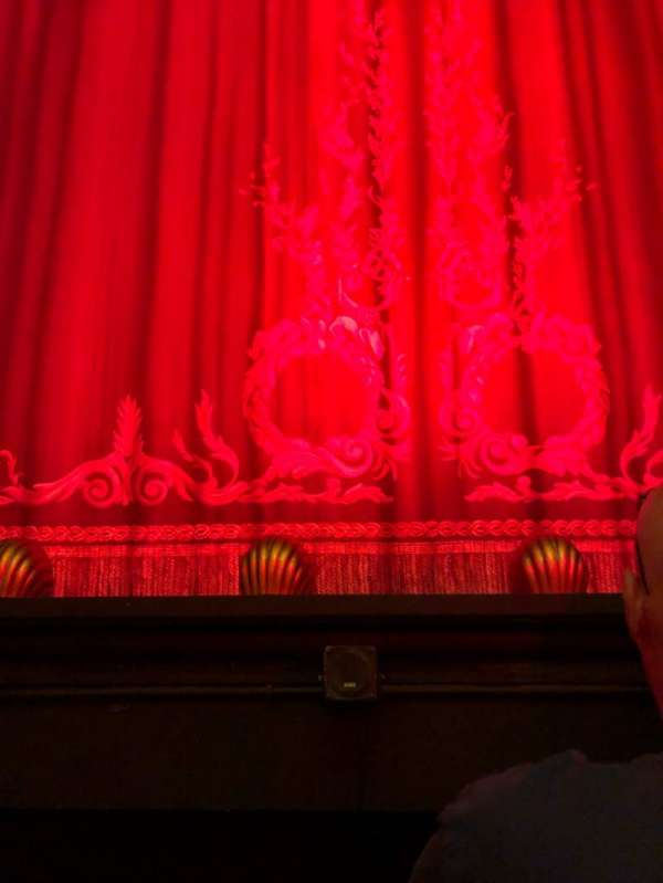 Hudson Theatre, section: Orch, row: B, seat: 107