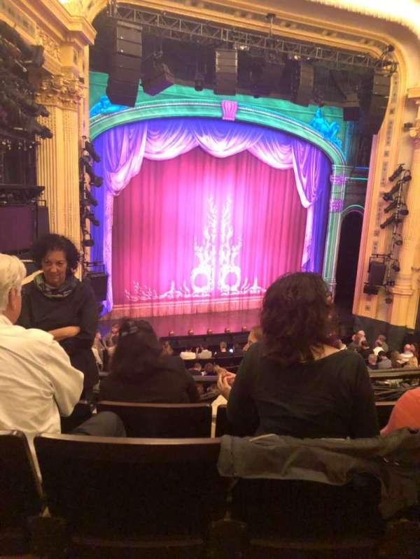 Hudson Theatre, section: Dress, row: D, seat: 17