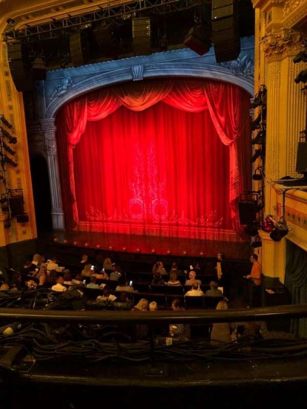 Hudson Theatre, section: Dress, row: B, seat: 6
