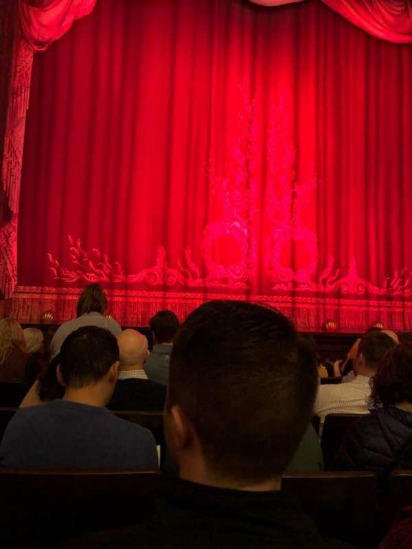 Hudson Theatre, section: Orch, row: F, seat: 106