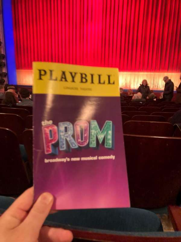 Longacre Theatre, section: Orch, row: N, seat: 105