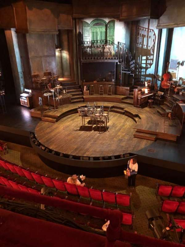 Walter Kerr Theatre, section: Mezz, row: B, seat: 2