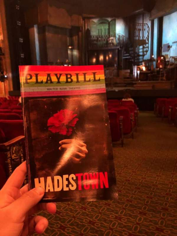Walter Kerr Theatre, section: Orch, row: P, seat: 2