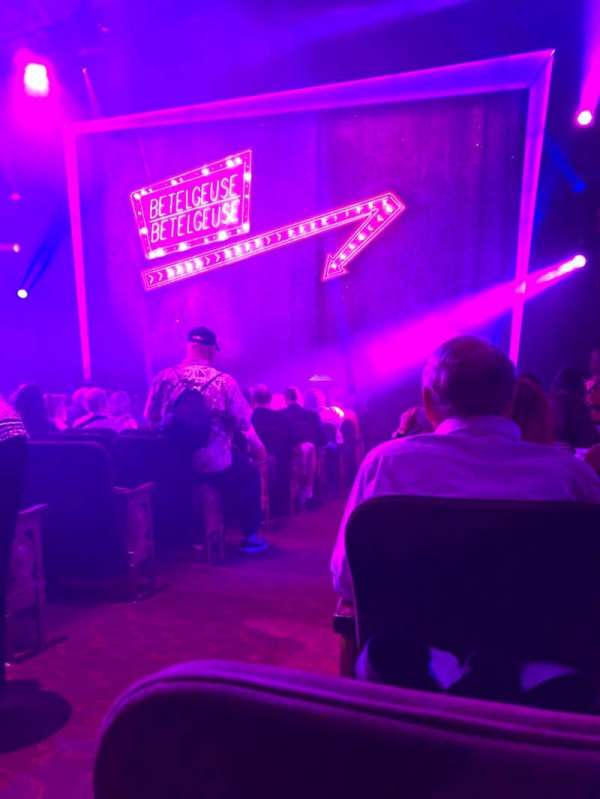 Winter Garden Theatre, section: Orchestra R, row: N , seat: 2