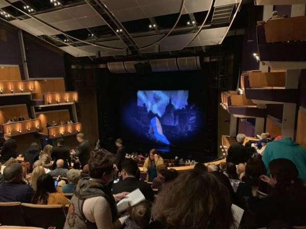 Ahmanson Theatre, section: Mezz Right, row: H, seat: 1