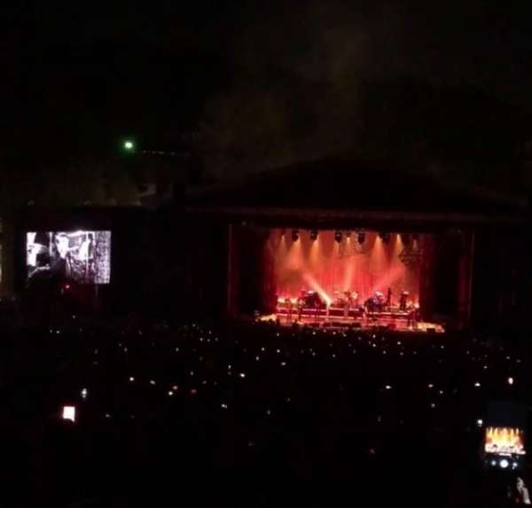 The Greek Theatre, section: C Right Center, row: P, seat: 136