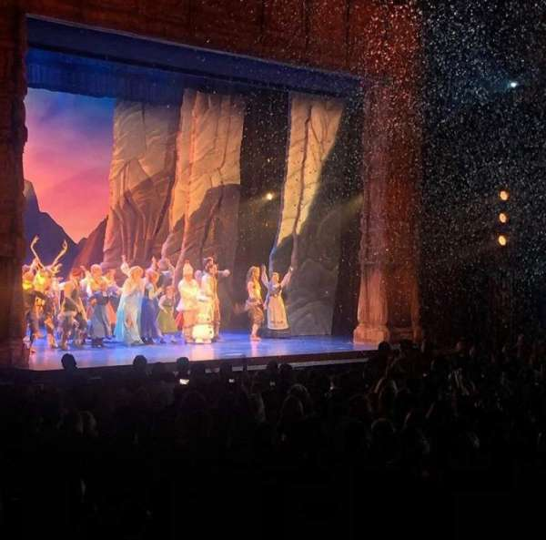 Hollywood Pantages Theatre, section: Orchestra lc, row: Y, seat: 314