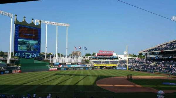 Kauffman Stadium, section: 217, row: LL, seat: 5
