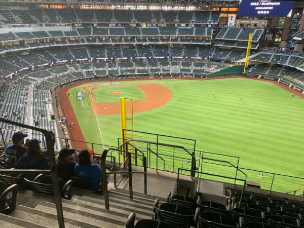 Globe Life Field, section: 326, row: 9, seat: 1