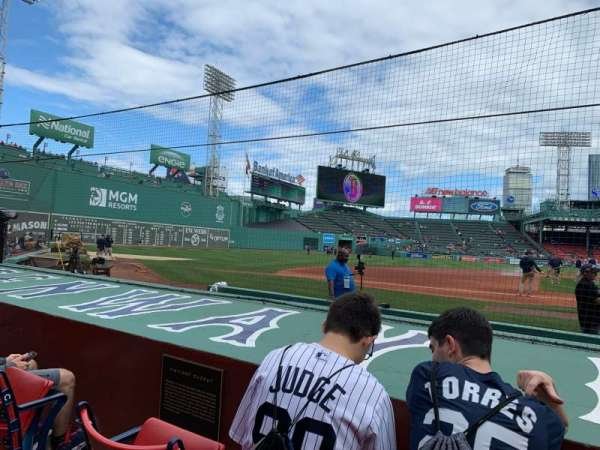 Fenway Park, section: Field Box 64, row: E, seat: 1-3