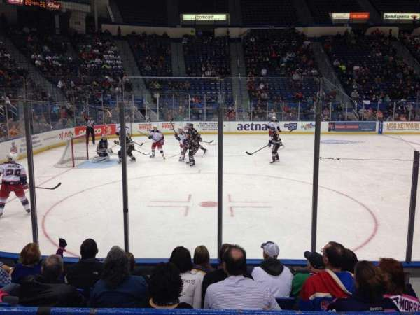 XL Center, section: 106, row: D, seat: 5