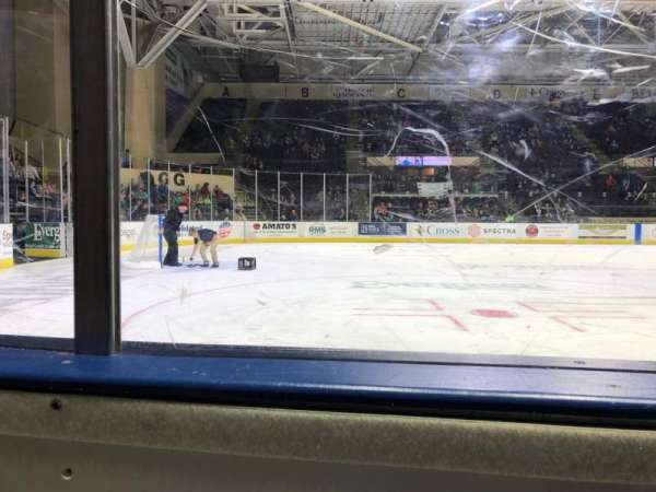Cross Insurance Arena, section: Y, row: 1, seat: 3
