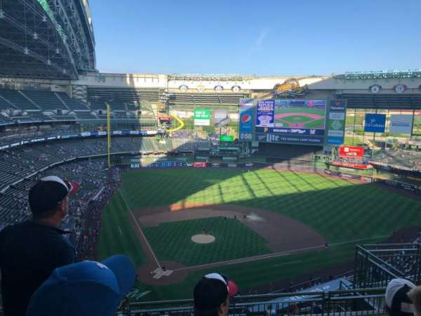 Miller Park, section: 419, row: 13, seat: 9