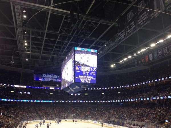 Amalie Arena, section: 110, row: S, seat: 5