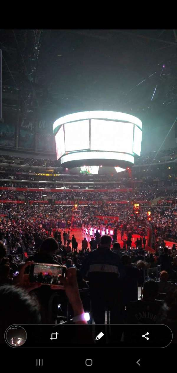 staples center, section: 116, row: 16, seat: 31