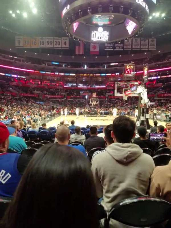 Staples Center, section: 107, row: J, seat: 8