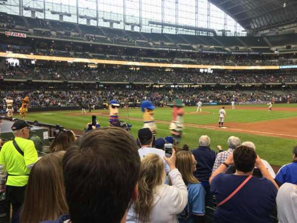 Miller Park, section: 111, row: 7, seat: 6