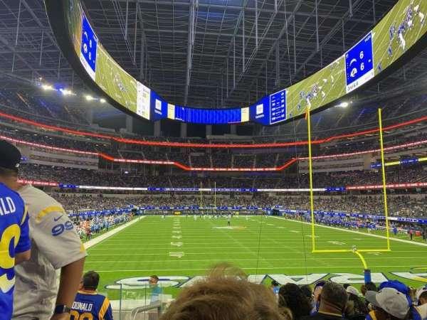 SoFi Stadium, section: 121, row: 13, seat: 25